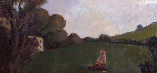 Aldo Carpi - Guardando in alto - 1925 Olio su tela - Collezione Fondazione Cariplo (particolare)