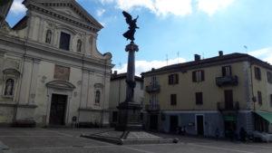 Carignano piazza Liberazione cornice della Cena Vianca di Carignano