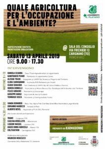 Convegno agricoltura Legambiente a Carignano