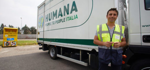 Rccolta indumenti usati Humana Italia