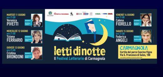 Letti di Notte 2019 Festival letterario di Carmagnola