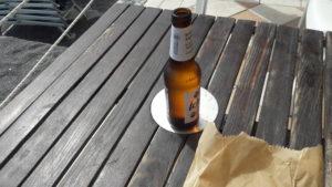 Una birra e un panino a Bergeggi