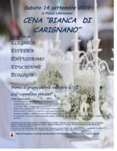 Cena Bianca di Carignano