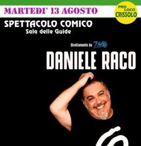 Daniele Raco a Crissolo martedì 13 agosto Estate 2019 in Alta Valle Po