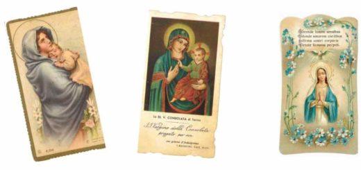 Mostra di santini nella chiesa della Misericordia a Carignano