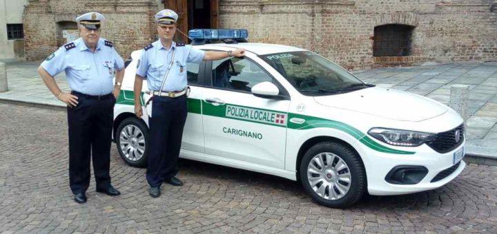 Nuova vettura per la polizia municipale di Carignano