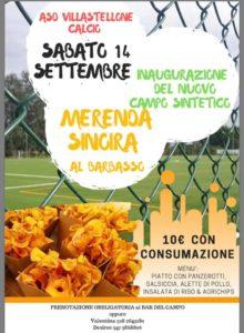 Inaugurazione campo sintetico e merenda sinoira a Villastellone