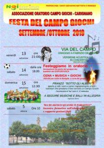 Oratorio Campo Giochi Carignano Festa 2019