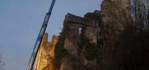 Lavori al Castello di Gorzegno