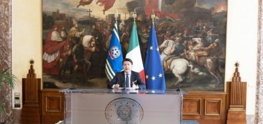 Il Presidente del Consiglio, Giuseppe Conte,