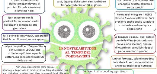 Le nostre abitudini alimentari al tempo del corona virus