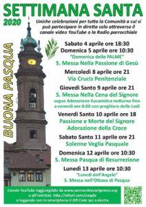 Settimana Santa 2020 a Carignano